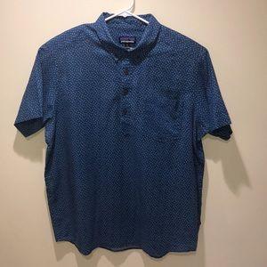 Patagonia Men's pullover blue shirt XL Cotton